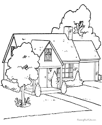 Small Picture Houses to Color and Print for adults Free printable house