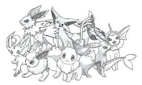 Eeveelutions Coloring Pages Color Bros