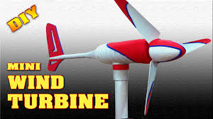 mini wind turbine homemade diy how to make free energy generator small wind mill you