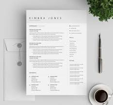 One Page Resume Templates Modern Resume Template With Cover Letter And References Template Modern One Page Cv For Word Mac Pages Clean Template Instant Download
