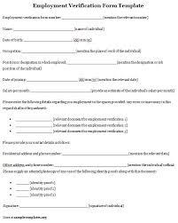 Employee Verification Form Verification Of Employment Form 100 Free