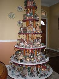 Christmas Tree Village Display Stands Christmas Village Houses Display Ideas Happy Holidays 39