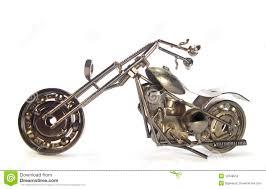 handmade metal motorcycle stock photo image of artificial 13348552