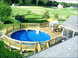 O Round Pool Deck Plans Swimming Above  Ground