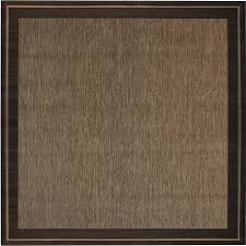 new haven havanah and black square machine made nature area rug common 7