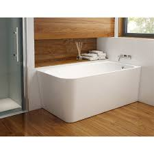 aria kapelle 59 inch acrylic corner bathtub with right hand drain