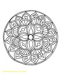 Simple mandala coloring pages 9