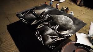 amazing black and white street art painting 3d pictures