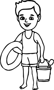 Small Picture Summer Boy On The Beach Coloring Page Wecoloringpage