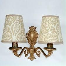 small clip on lamp shades small wall lamp shades small handmade candle clip lampshade for wall