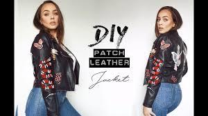 diy patch leather jacket tijana nijevic