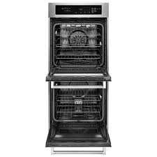 kitchenaid 24 6 2 total cu ft self clean double wall oven with upper convection
