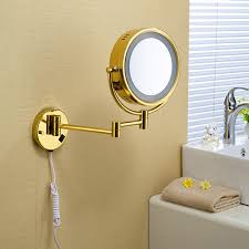 makeup wall mirror. gold lighted makeup mirror wall mounted a