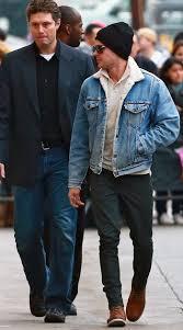 zac efron in a denim levi s jacket