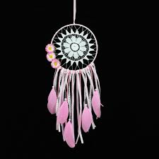 Dream Catchers India Delectable Wind Chimes Fashion Home Gift India Lace Pink Color Dreamcatcher