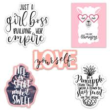 Cute Girl Inspirationalmotivational Quote Aesthetic Vinyl Stickers For Laptops And Water Bottles Inspirational Quotes