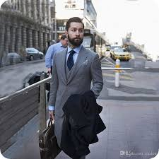 <b>Latest</b> Coat Pant <b>Designs Grey Men</b> Suits Slim Fit Office Best <b>Man</b> ...