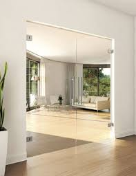 frameless double doors