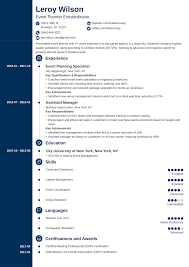 Duties Of An Event Planner Event Planner Coordinator Resume Sample Guide