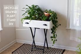 upcycled drawer plant stand diy happy together