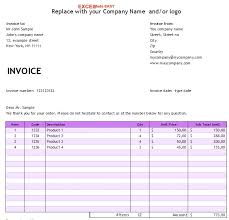 Get Excel Simple Invoice Template Free Images