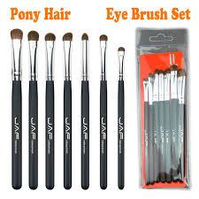 jaf makeup eye brush set natural hair eyeshadow blending brushes perfect for liner shadow tapered pencil definer crease smoky eyes makeup brushes black by