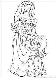 Precious Moments Christmas Coloring Pages At Getdrawingscom Free