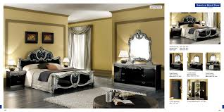 Silver Mirrored Bedroom Furniture Black And Silver Furniture