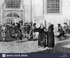 martin luther directs the posting of his theses protesting the  martin luther directs the posting of his 95 theses protesting the practice of the of indulgences on the wittenberg door