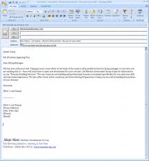 email as cover letter template email as cover letter