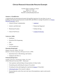 Clinical Research Assistant Resume Medical Research Assistant Resume