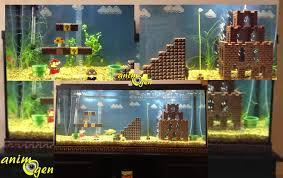Mario Brothers Aquarium Decorations Lunivers De Mario Bros Dans Un Aquarium Pour Les Fans De Jeux