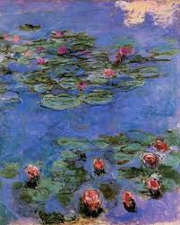 claude oscar monet red water lilies oil painting from incredible art gallery