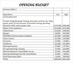 Marketing Budget Template Interesting Restaurant Budget Sample Restaurant Budget Template Usages Of