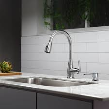 Kitchen Faucets With Sprayer Kraus Stainless Steel Single Handle Pull Down Standard Kitchen