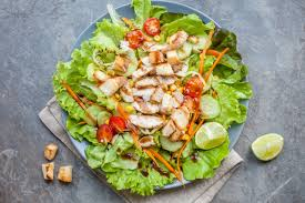 garden salad with chicken. Plain With Grilled Chicken And Mixed Greens Salad On Garden With I