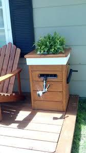 garden hose box custom planter boxes with a built in garden hose reel choice of garden