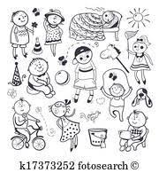 子供 演劇との おもちゃ クリップアート切り張りイラスト絵画