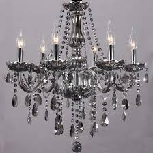 brilliant modern grey chandelier post modern smoke crystal chandelier lamps for dining room led best