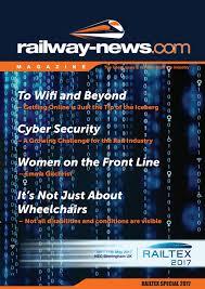Railway News Magazine Railtex Special 2017 By Railway News