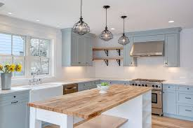 light blue vintage farmhouse cabinets