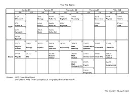 prince alfred college year s  year 12 ibd and sace trial examination timetable