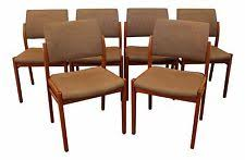 set of 6 mid century danish modern svegards markaryd teak side dining chairs