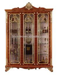 hand carving wooden display cabinetluxury decorative 4door wine cabinet antique gold painting storage cabinet for living room buy carved wood antique storage cabinet with doors a86 cabinet