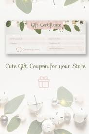Store Gift Certificate Template Gift Coupon Certificate Template 66223