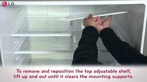 lg refrigerator how to adjust remove your bins and shelves