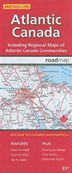 Canadian City Distance Chart Atlantic Canada Road Map Canadian Cartographics