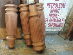 stripped antique snooker table legs