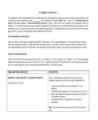 Simple Statement Of Work Template It Sow Template For Website Development Statement Of Work It