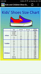 United Colors Of Benetton Size Chart Conversion Children Shoe Size Chart 1 0 Apk Download Android Shopping